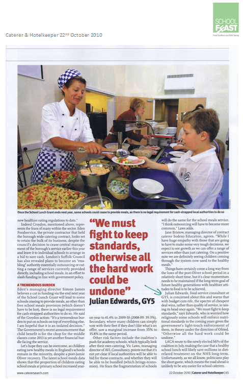 GY5 - caterer and hotelkeeper press report