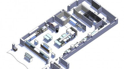 Academy Kitchen Design for on site and delivered meals